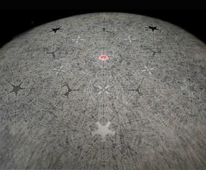 """Pentacle (50"""" diameter hemisphere with video)"""